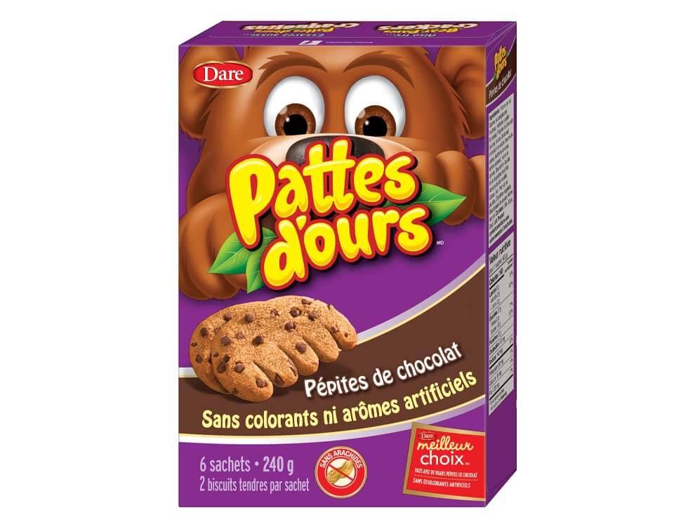 Biscuits Pattes d'ours Pépites de chocolat