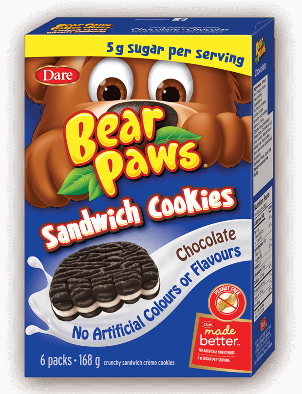 Bear Paws Cookies Made Better with Less Sugar