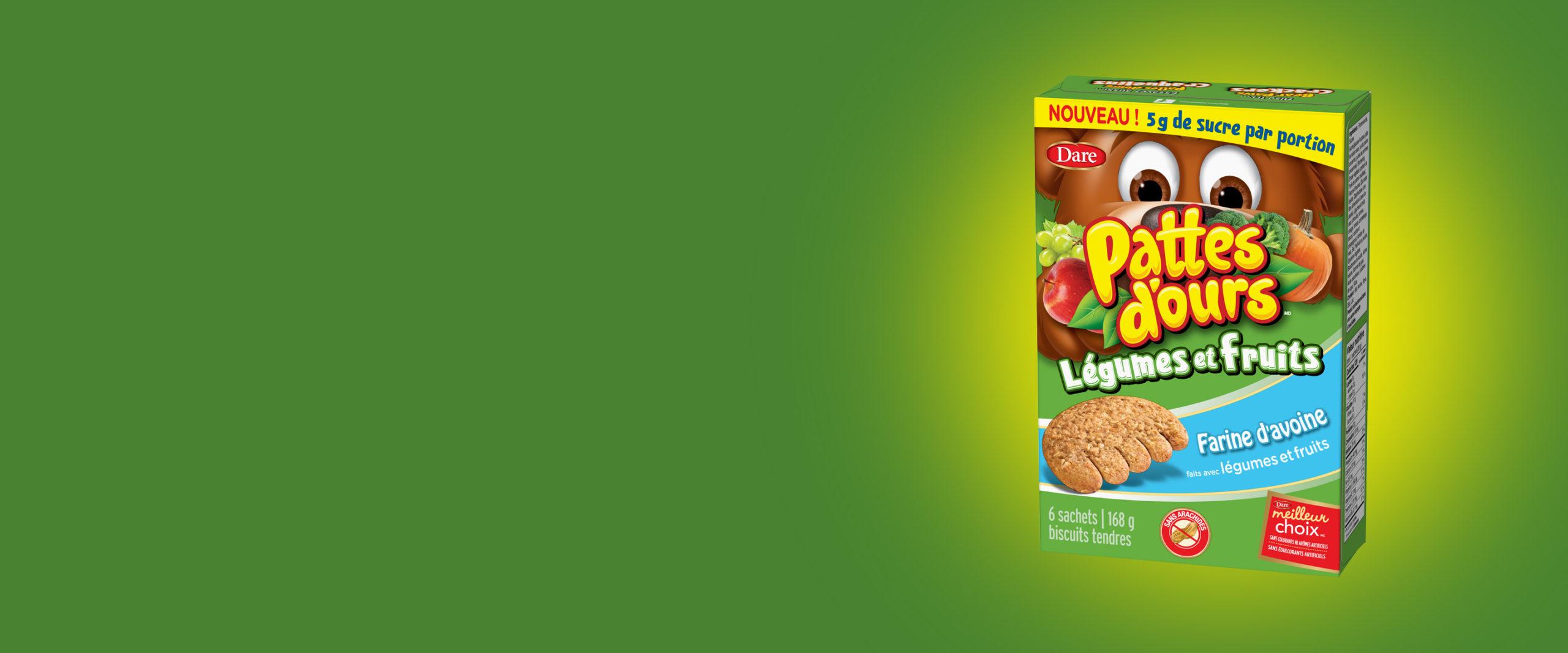 Lancement des Pattes d'ours Veggies + Fruits