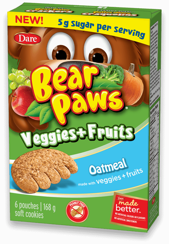 Bear Paws Veggies + Fruits is Launched